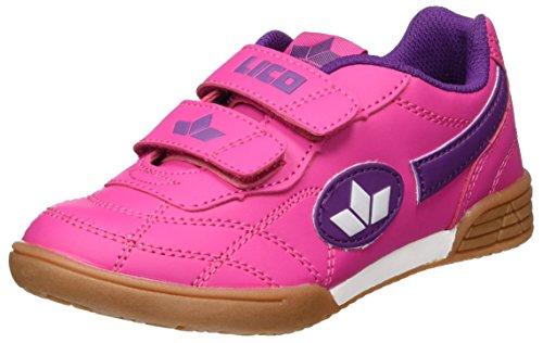 Lico Bernie V Multisport Indoor Schuhe Mädchen, Pink/ Lila/ Weiß, 35 EU
