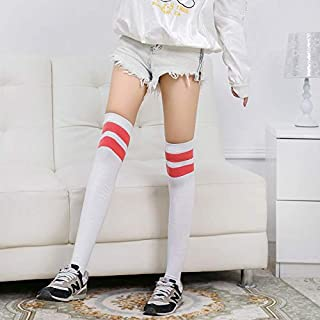 94409a97e LLINC Home College Wind high Socks Female Students Two Bars Piled Baseball Socks  Japan and South
