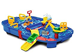 Article size when assembled: 85 x 65 x 22 cm Number of pieces: 25 Recommended age: 3 years and up A portable waterway system for in doors or outdoors Educational and fun move and steer boats through waterways and locks
