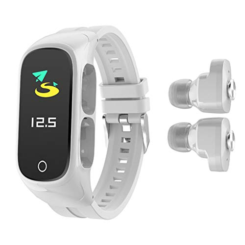 Ladeyi Reloj Multifuncional con Auricular Bluetooth | Reloj Inteligente 2 En 1, Auricular TWS Bluetooth 5.0, Pulsera Inteligente