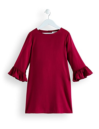 Amazon-Marke: RED WAGON Mädchen Kleid mit Rüschen, Violett (Beet Red), 104, Label:4 Years