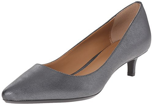 Calvin Klein Women's Gabrianna Pump, Steel New Saffiano, 7.5 Medium us