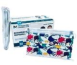 50 Mascherine Chirurgiche Bambini Fantasia Bambino Certificate CE, Alta Efficienza di Filtraggio BFE≥98, Mascherina Chirurgica Certificata, Face Mask Monouso 3 Strati [50 Pezzi]
