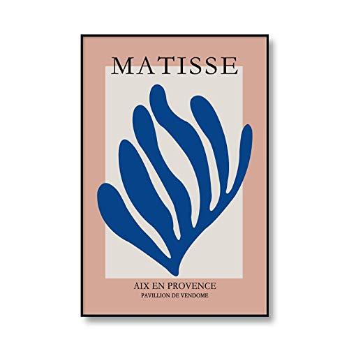 Póster de exposición de Henry Matisse, arte de pared abstracto, pintura en lienzo del cuerpo humano, impresión de hojas, lienzo sin marco, pintura A5 30x45cm