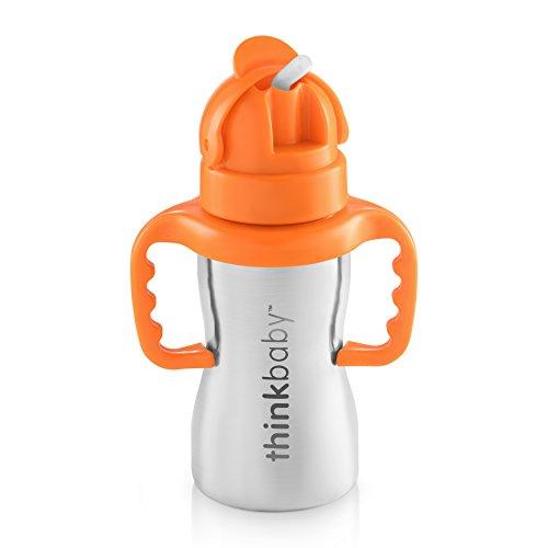 Thinkbaby Stainless Steel Thinkster Bottle, Orange (9 ounce)