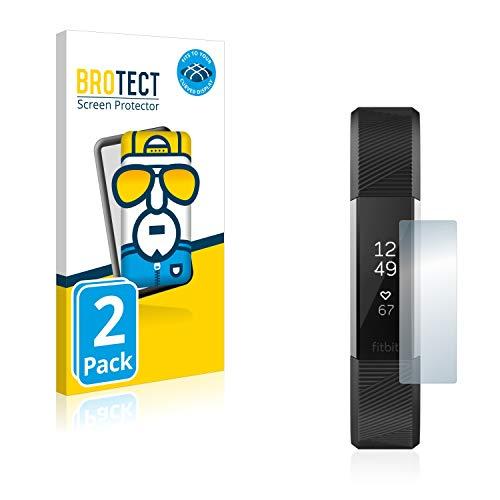 BROTECT Full-Cover Schutzfolie kompatibel mit Fitbit Alta HR/Alta (2 Stück) - Full-Screen Bildschirmschutz-Folie, 3D Curved, Kristall-Klar