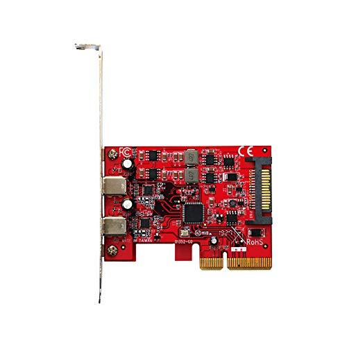 玄人志向 ASMedia社製 ASM3142搭載 USB3.2 Type-C×2 インターフェース PCI-Express×4接続 USB3.2C-P2-PCIE3
