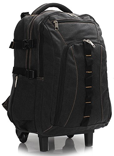 Travel Backpack Rucksack Luggage Bag With Wheels Trolley Large Wheeled for Men Women , Black