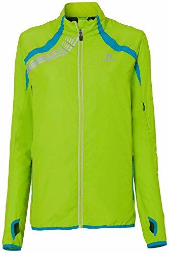 erima Damen Jacke Running Jacket Spring / Summer 2015, Lemon Green / Peacock, 42, 806508