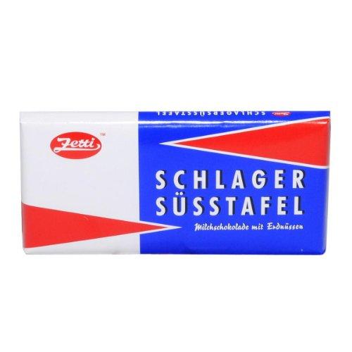 Zetti Schlager Süsstafel Milchschokolade mit Erdnüssen - 1 x 100 g