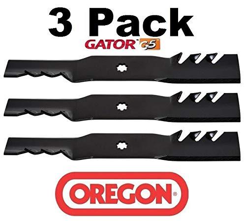 3 Pack  Mower Blade Gator G5 Fits John Deere GX21380 GY20679 - Oregon 592-617