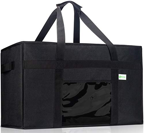 KIBAGA Premium Insulated Food Delivery Bag XXL - 23x14x15 inches Waterproof Catering Supply Bag for...