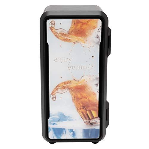 Mini calentador de refrigerador, refrigerador eléctrico de diseño de una sola puerta, operación silenciosa Bebidas de enfriamiento rápido Cosméticos para el hogar,(Standard black 18w)