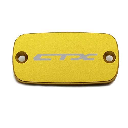 RONGLINGXING Powersports Teile Motorrad-Zubehör CNC-Aluminiumfrontbremsflüssigkeitsbehälter Abdeckkappe for Honda CTX 700 700N 1300 CXT700 CTX1300 2014-2016 (Color : HONDA Yellow)