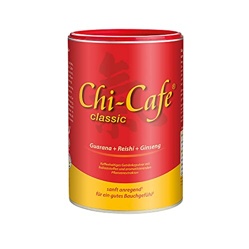 Chi-Cafe classic I 400 g kaffeehaltiges Getränkepulver mit Akazienfaser-Ballaststoffen I für eine gute Verdauung I mit Reishi-Pilz, Ginseng und Guarana I vegan, 66 Tassen