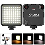 VIJIM 81 Luz de Video LED Temperatura de Color Luz de Cámara Ajustable Luz de Fotografía + 3200k-5600k CRI95 para...