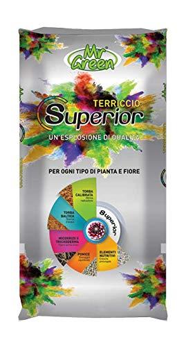 MR GREEN TERRICCIO Universale Superior con Pietra POMICE MICORRIZE TRICHODERMA CONCIME NPK 70 LT