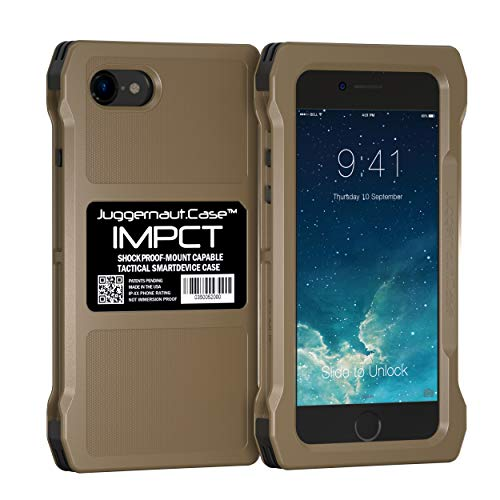 Juggernaut.Case IMPCT for Apple iPhone 7 & 8 - Military Grade, Tactical Smartphone Phone Case, Made in USA - Flat Dark Earth