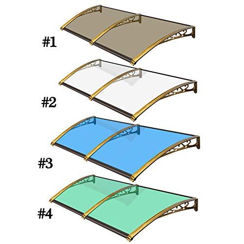 Toldo de policarbonato de alta transparencia, soporte de aleación de aluminio, resistente a los rayos UV y a la lluvia, para ventana de porche, color personalizado, #4, 60 x 60 cm