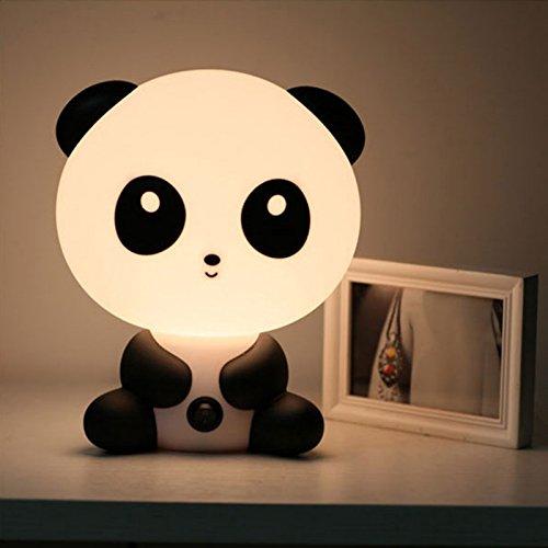 Demarkt Lámpara de Mesa con Forma de Panda,Simple Escritorio Moderno Dormitorio Creativa luz(Blanco)