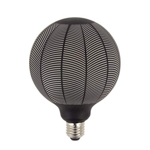 XANLITE – Bombilla LED decorativa de filamento G125 – Casquillo E27, 4 W Cons, 2700 K – Aspecto de agujas de pino negro – Bombilla estándar decorativa para habitación, habitación de vivir