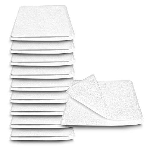 ARLI Handtuch 100% Baumwolle Weiss 10 Handtücher Set Serie aus hochwertigem Rohstoff Frottier klassischer Design elegant schlicht modern praktisch mit Handtuchaufhänger weiß