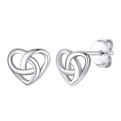 Celtic Knot Stud Earrings, Sterling Silver Celtics Jewelry Triquetra Knot Ear Studs for Women Teen Girls with Gift Packaging