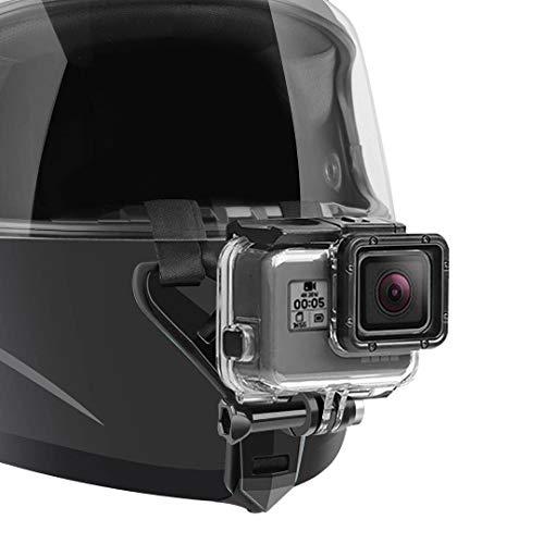 Motorcycle Helmet Chin Strap Mount Compatible with GoPro Hero 9, 8, 7, (2018), 6 5 4 3, Hero Black, Session, Xiaomi Yi, SJCAM (Black)