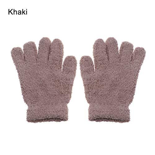 YUKNICO 7-11 jaar oud kinderen jongens meisjes winterhandschoenen volledige vingers zachte warme bonbonkleuren handschoenen voor jongens meisjes