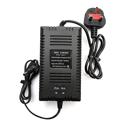 Lithium Battery Cargador 36v 0-2amp UK Mains Enchufe Scooter Movilidad Costes 7am P/10am P/15amp Batteries