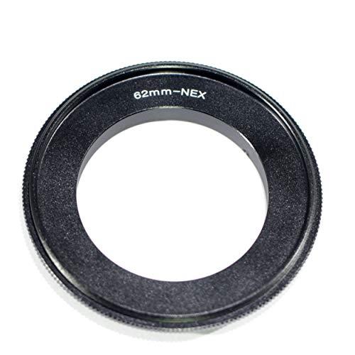 Pixco 62mm Lens Macro Reverse Adapter Ring voor Sony E Mount NEX Camera A6400 A7III A7RIII Alpha a9 Alpha 7R Alpha 7 A6300 A7SII A5100 A6000 A7R A7 A3000 NEX-7 NEX-6 NEX-5T NEX-5R NEX-3N