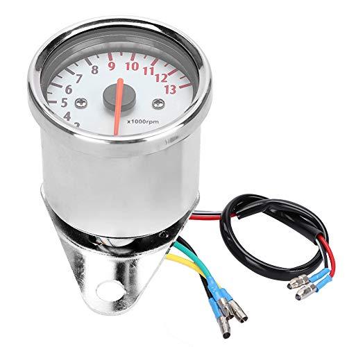 Motorrad Drehzahlmesser, Fydun 0-13000 U/min Elektronische Tachometer LED Anzeige Instrument für DC 12V Motorrad