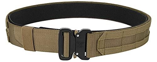 Best for Lightweight Molle attachment KRYDEX Quick Release Rigger MOLLE Belt