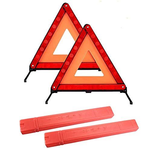 Triangles de signalisation pour Auto,Triangle de Presignalisation Homologue Ce,Euro Triangle d'avertissement pour Véhicules à Moteur Triangle de Sécurité Rouge