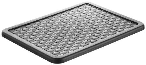 Rotho Country Deckel in Rattan-Optik für Aufbewahrungskiste Country A4, Kunststoff (PP), schwarz, 37,5 x 28,5 x 1,5 cm (LxBxH)