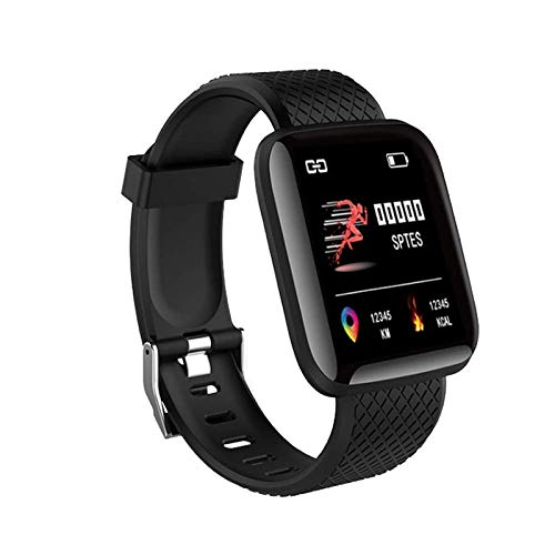 SHOPTOSHOP Smart Band ID116 Fitness Tracker Watch Heart Rate with Activity Tracker Waterproof Body Functions Like Steps Counter, Calorie Counter, Heart Rate Monitor (Black)