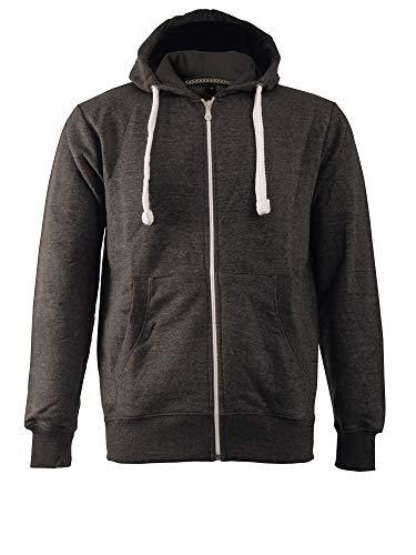 Love My Fashions - Sweat-shirt à capuche - - Uni - Manches longues Homme - Gris - Charbon - Large