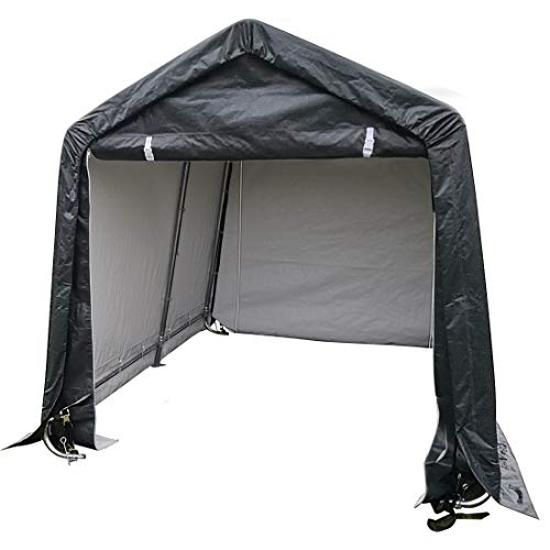 Quictent Heavy Duty Storage Shelter 10 x 10ft Outdoor Car Canopy Carport Shed Grey