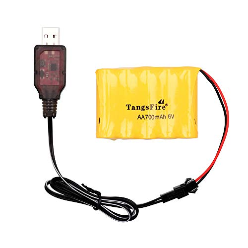 6V Battery 700mAh AA Rechargeable Ni-Cd SM 2P Plug Spare Batteries Packs RC Car Road Vehicle Fast Race Off-Road Vehicle Rock Crawler