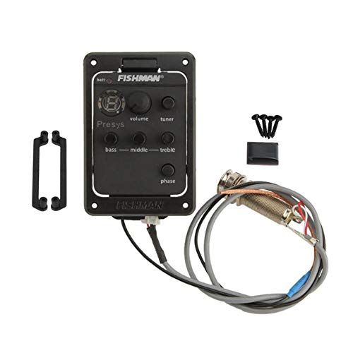 Ecualizador de guitarra acústica EQ tono y volumen amplificador onboard preAmplificación piezo...
