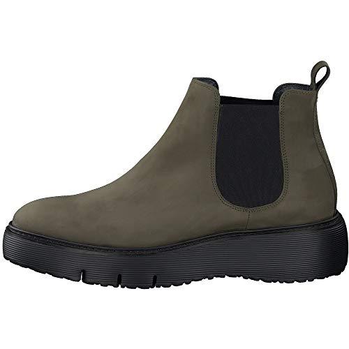 Paul Green Damen Chelsea-Boots, Frauen Stiefeletten, Ladies feminin elegant Women's Woman Freizeit leger Stiefel halbstiefel,Grün,4.5 UK / 37.5 EU