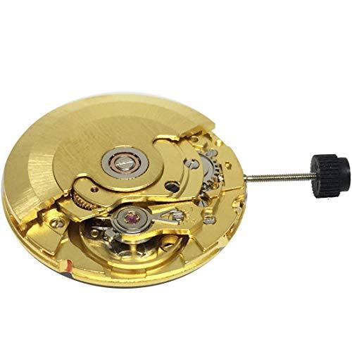 Clon Retro para ETA 2824 2824-2 Movimiento Automático Reloj Blanco/Oro 25 Joyas, Oro,
