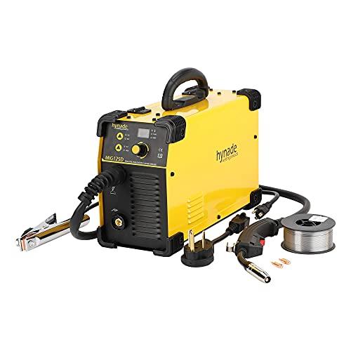 Mig Welder, Mig Welding Machine, Dual Voltage 110/220V Co2 Gasless Mig Flux Wire Welding Machine (MIG125D) (Renewed)