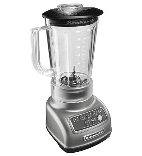 KitchenAid RKSB1570CU 5-Speed Blender with 56-Ounce BPA-Free Pitcher - Silver (Renewed)