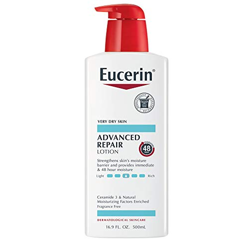 Eucerin Advanced Repair Lotion - Fragrance Free, Full Body Lotion for Very Dry Skin - 16.9 fl oz Pump Bottle