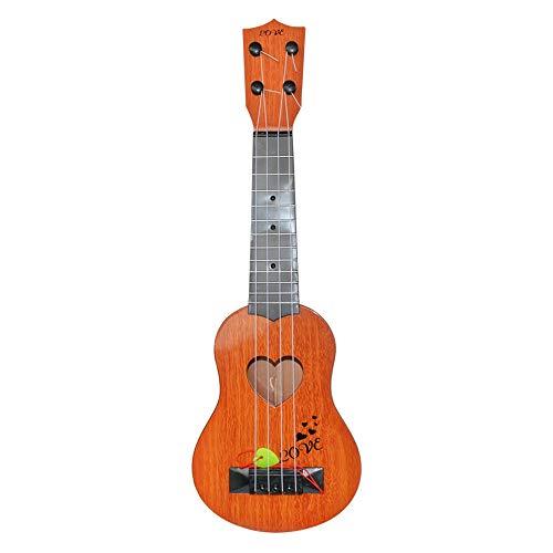 Kindergitarre Klassische Ukulele Guitar Educational Musical Instrument Toy for Kids Beginner,Pädagogisches Musikinstrument Spielzeug Braun Gelb Orange 39x12x3.5cm