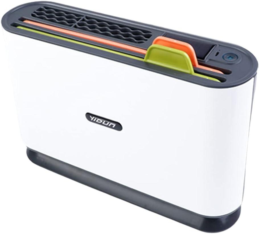 Generic Estante multifunción para cuchillo de cocina con esterilizador automático ultravioleta, máquina de desinfección para el hogar