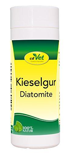 cdVet Naturprodukte Kieselgur 50 g - Hund, Katze, Vogel, Kleintiere - Trockenhilfsstoff - Feuchtigkeitsbindend - bindet Floh + Milbenkot - Stallhygiene - Stallklima - 100% Natur - Kieselalgen -
