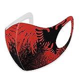 Maschera scaldacollo unisex con bandiera albanese dell'aquila, maschera per il viso con paraorecchie anti-vento riutilizzabile