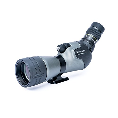 VANGUARD Endeavor HD 65A Angled Eyepiece Spotting Scope, 15-45 x 65, ED Glass, Waterproof/Fogproof, Black and Gray, 65mm
